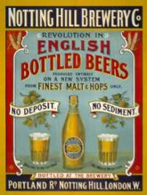 Notting Hill Brewery Metal Wall Sign (2 sizes)